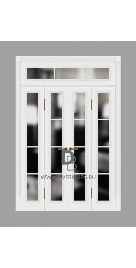Двери с фрамугами РФ1 Белый