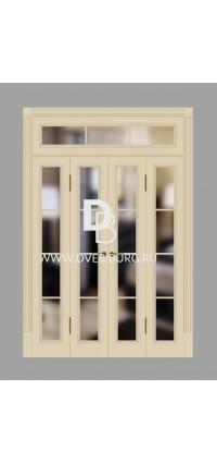 Двери с фрамугами РФ1 Топленое молоко
