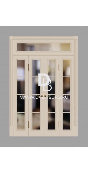 Двери с фрамугами РФ1 Слоновая кость