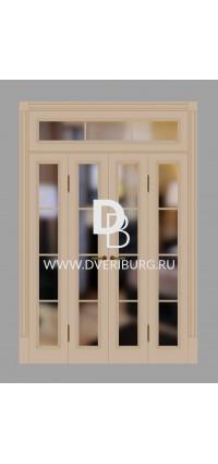 Двери с фрамугами РФ1 Tortora