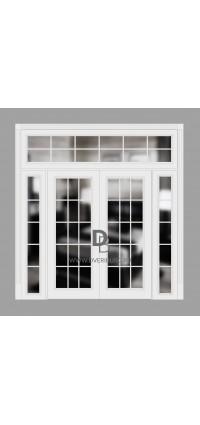 Двери с фрамугами РФ2 Белый
