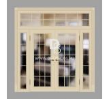 Двери с фрамугами РФ2 Топленое молоко